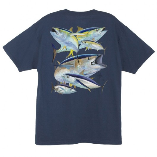 CAMISETA PESCA GUY HARVEY TUNA COLLAGE MTH1211