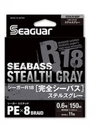 SEAGUAR R18 SEABASS STEALTH GRAY 150 MT