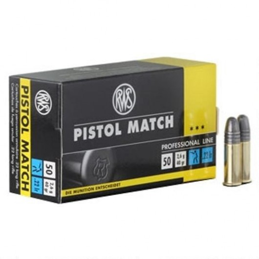 4000294132445 RWS 22LR PISTOL MATCH 40GRS adcsportshop.com