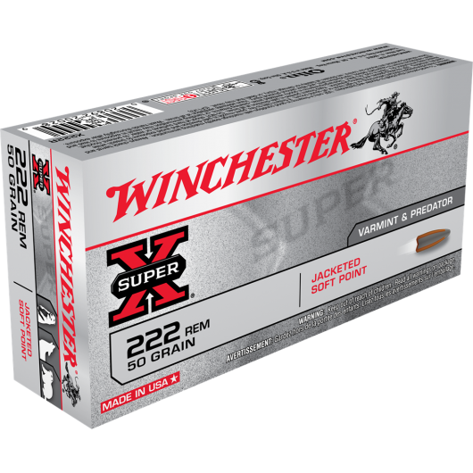 020892200289 WINCHESTER 222 REM JACKETED POINT 50GRS adcsportshop.com