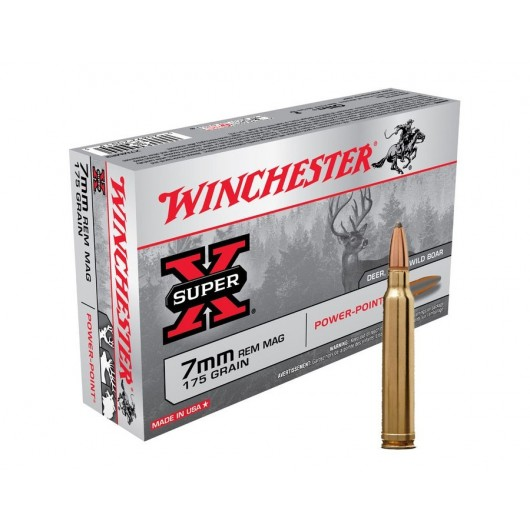 020892200135 WINCHESTER 7MM REM MAG POWER POINT 175GRS adcsportshop.com