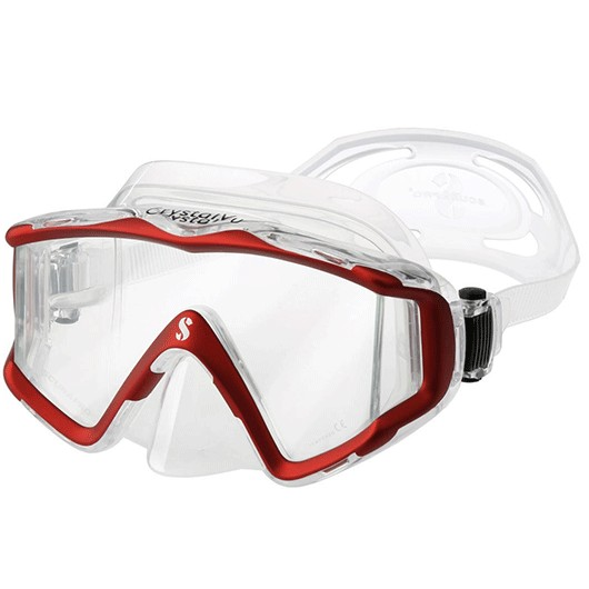 SCUBAPRO CRYSTAL VU SIL. CLEAR red