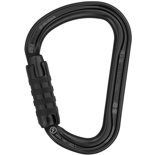 PETZL WILLIAM TRIACT-LOCK NEGRO