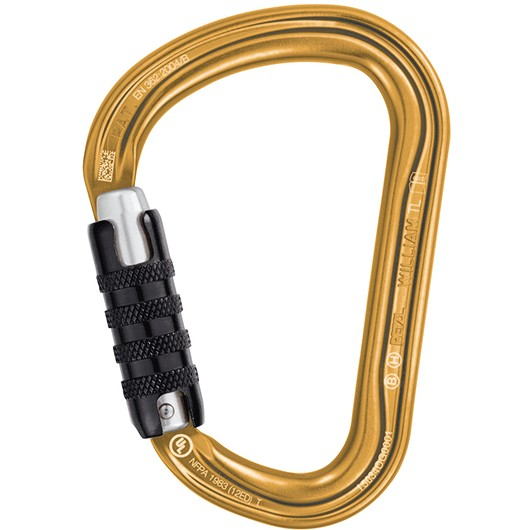 PETZL WILLIAM TRIACT-LOCK DORADO