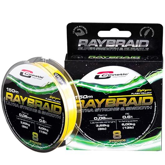 CINNETIC RAYBRAID FLASH YELLOW 150M