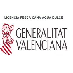 LICENCIA PESCA AGUA DULCE COMUNIDAD VALENCIANA 1 AÑO