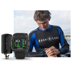 PACK AQUALUNG I750TC CON INTERFACE + TRANSMISOR BLACK