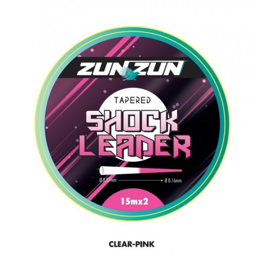 BICOLOR TAPERED LEADER SHOCK LEADER 2x15 ZUNZUN adcsportshop.com