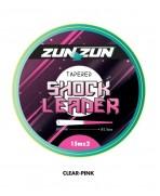 BICOLOR TAPERED LEADER SHOCK LEADER 2x15 ZUNZUN adcsportshop.com